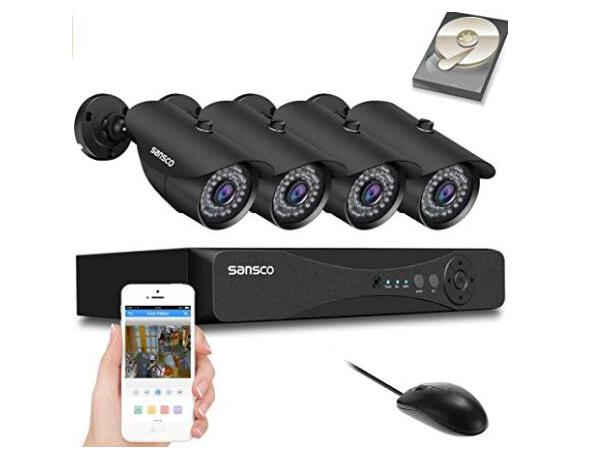 AHD - SANSCO S4D4C1T All-in-One Smart CCTV Camera System
