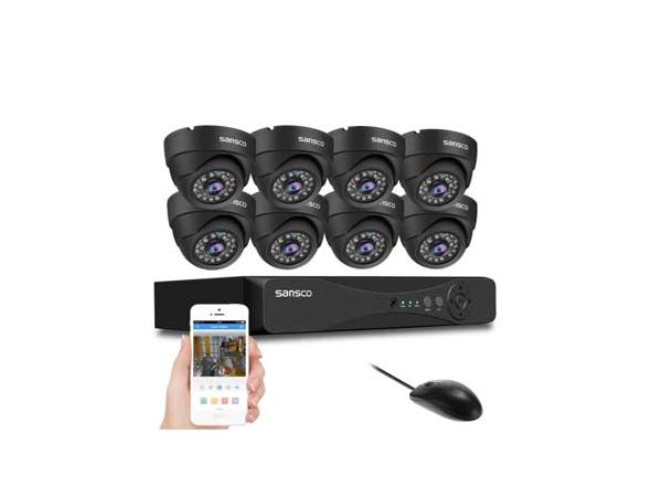 AHD - SANSCO 1080p CCTV Camera System with 8x 2MP Dome Cameras