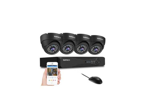 AHD - SANSCO 1080p CCTV Camera System with 4x 2MP Dome Cameras