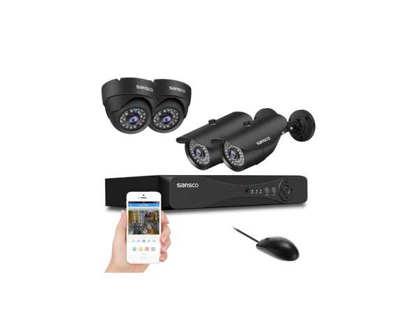 AHD - SANSCO 1080p CCTV Camera System with 4x 2MP Bullet & Dome Cameras